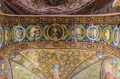 Basilica av San Vitale i Ravenna, Italien royaltyfri bild