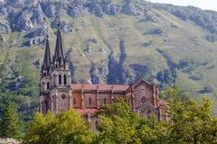 Basilica av Santa María la som är verklig av Covadonga Royaltyfri Bild