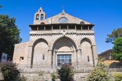 Basilica av St. Flaviano. Montefiascone. Lazio. Det royaltyfri bild
