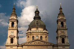 Basilica av St. Istvan i Budapest Arkivbilder