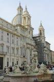 Basilica barrocco in piazza Navona fotografia stock libera da diritti