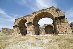 The Basilica Baths in Hierapolis, Denizli, Turkey Royalty Free Stock Photo