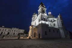 Basilica of the Birth of the Virgin Mary in Chelm, Poland. Chelm, Lubelskie, Poland Royalty Free Stock Images
