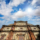 Basilica of Bom Jesus. Church with blue sky in Panaji, Old Goa, India Stock Images