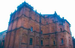 Basilica of Bom Jesus church in Goa,India. The Basilica of Bom Jesus or Borea Jezuchi Bajilika is located in Goa, India, and is a UNESCO World Heritage Site. The Royalty Free Stock Photography
