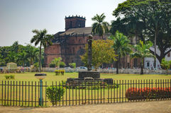 Basilica of Bom Jesus in Old Goa, India. Famous landmark - Basilica of Bom Jesus, Borea Jezuchi Bajilika, in Old Goa, India. Basilica is a UNESCO World Heritage Royalty Free Stock Photos