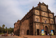 Basilica of Bom Jesus. Outer view of Basilica of Bom Jesus church in Old Goa. The body of St. Francis Xavier is placed here Stock Images