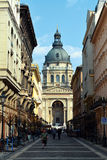 Basilica in Budapest. Mall , Old Town royalty free stock images