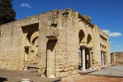 Basilica building, Medina Azahara, Spain. Ruins of the upper basilica building (Dar al-Jund), Medina Azahara (Madinat al-Zahra), Near Cordoba, Cordoba Province Royalty Free Stock Photo