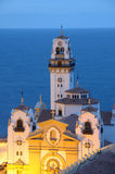 Basilica of Candelaria at dusk. Tenerife, Spain Stock Images