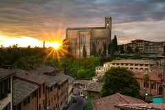 Basilica Cateriniana di San Domenico - Siena stock photography