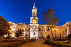 Basilica Cathedral, Arequipa Stock Photography