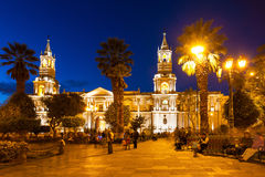 Basilica Cathedral, Arequipa Stock Photos