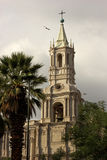 Basilica Cathedral of Arequipa in Peru Royalty Free Stock Photo