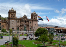 Basilica Cathedral of Cusco. And Plaza de Armas Royalty Free Stock Photo