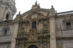 Basilica Cathedral of Lima, Peru Royalty Free Stock Photo