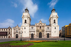 Basilica Cathedral, Lima. The Basilica Cathedral of Lima is a Roman Catholic cathedral located in the Plaza Mayor in Lima, Peru Royalty Free Stock Photos