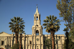 Basilica Cathedral Of Arequipa In Plaza De Armas, Peru, South America Stock Photo