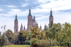 The Basilica Cathedral of Our Lady of the Pillar Royalty Free Stock Photography