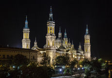 Basilica Cathedral of Our Lady of the Pillar, Saragossa Spain Stock Photography