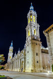 Basilica Cathedral of Our Lady of the Pillar, Saragossa Spain Royalty Free Stock Photography