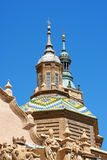 Basilica-Cathedral of Our Lady of the Pillar in Zaragoza Stock Photo