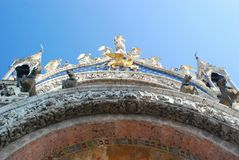 Basilica cathedral in Venice Royalty Free Stock Images