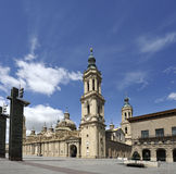 Basilica-Cathedral in Zaragoza Stock Photography