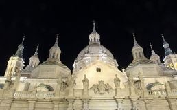 Basilica Cathedral in Zaragoza Spain Royalty Free Stock Image