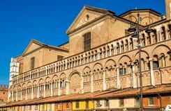 Basilica Cattedrale di San Jorge en Ferrara Foto de archivo libre de regalías