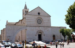 basilica chiara santa Arkivfoton