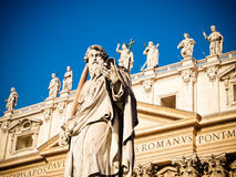 Basilica(church) di San Pietro in Vaticano. The figures of San Pietro church in Vaticano in the morning Stock Images