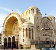 Basilica church in Heliopolis. The Catholic Basilica church in Heliopolis, Egypt. The Basilica Church was established by Baron Imban near his palace in the new stock photo