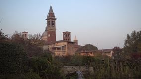 Basilica Church S. Lorenzo Martire Verolanuova BS Italy stock footage