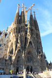 Basilica church Sagrada Familia with Nativity facade in Barcelona Stock Image