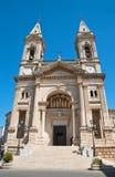Basilica Church of SS. Cosma e Damiano. Alberobello. Puglia. Italy. Stock Photos