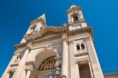 Basilica Church of SS. Cosma e Damiano. Alberobello. Puglia. Italy. Stock Photo