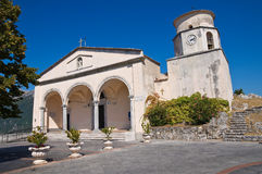 Basilica church of St. Biagio. Maratea. Basilicata. Italy. Perspective of the Basilica church of St. Biagio. Maratea. Basilicata. Italy Stock Photo