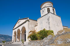 Basilica church of St. Biagio. Maratea. Basilicata. Italy. Royalty Free Stock Images