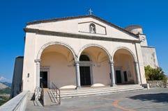 Basilica church of St. Biagio. Maratea. Basilicata. Italy. Perspective of the Basilica church of St. Biagio. Maratea. Basilicata. Italy Royalty Free Stock Photography