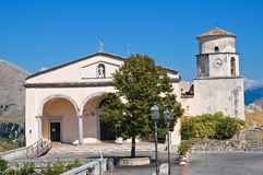 Basilica church of St. Biagio. Maratea. Basilicata. Italy. Perspective of the Basilica church of St. Biagio. Maratea. Basilicata. Italy Stock Photography