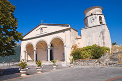Basilica church of St. Biagio. Maratea. Basilicata. Italy. Perspective of the Basilica church of St. Biagio. Maratea. Basilicata. Italy Stock Images