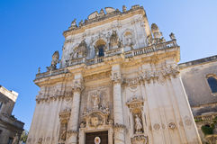 Basilica Church of St. Giovanni Battista. Lecce. Puglia. Italy. Royalty Free Stock Images