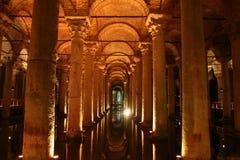 The Basilica Cistern. (Turkish: Yerebatan Sarayı - Sunken Palace, or Yerebatan Sarnıcı - Sunken Cistern royalty free stock images