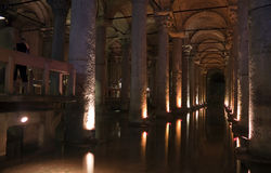 Basilica cistern Royalty Free Stock Photo