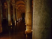 Biggest roman cistern istanbul royalty free stock images