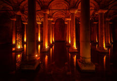 Basilica Cistern in the city of Istanbul Royalty Free Stock Image