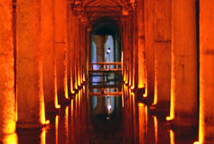 Basilica Cistern. In Historic Areas of Istanbul stock photos