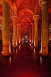 Basilica Cistern Interior At Istanbul Stock Photos
