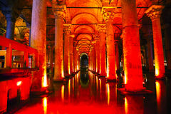 Basilica Cistern interior Royalty Free Stock Photo